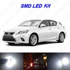 12 x White LED interior Bulbs Fog Reverse Tag Lights for 2011-2016 Lexus CT200h