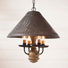 Irvins Country Homespun Rustic Farmhouse Kitchen Shade Light in Pearwood
