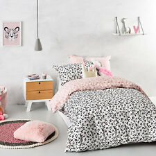 ADAIRS DANCING-QUEEN LEOPARD reversible SINGLE bed QUILT DOONA DUVET COVER set
