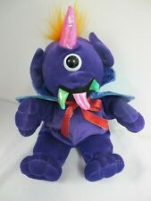 ONE EYED  HORNED PURPLE PEOPLE  EATER SINGING PLUSH MONSTER TR TRADING