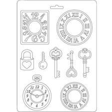 Soft Mould-STAMPERIA-flexible Gießform-A5-Clocks and Keys-K3PTA532