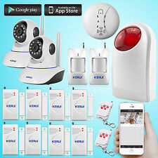 WIFI HD IP Camera Home House Security Alarm System,Wireless Outdoor Storbe Siren