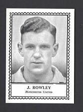 BARRATT - FAMOUS FOOTBALLERS (NON DESCRIPTIVE) - J ROWLEY, MANCHESTER UNITED