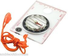 Waypoint See-Thru Beginner Map Compass by Ultimate Survival .. Brand New