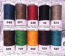 10 NEW 274 yard Spools Dark colors GUTERMANN 100% polyester sew-all thread