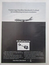 7/1972 PUB HAMILTON STANDARD 3 WHEEL AIR CONDITIONNING BOEING 747 TRISTAR AD