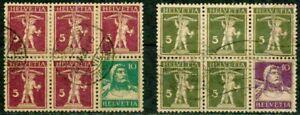 SWITZERLAND – 1927-1930 -  BOOKLET PANES  - VF°