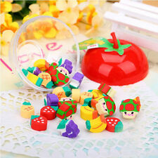 50pcs Cute Mini Fruit Rubber Pencil Eraser For Kids Stationery/Gift/Toy 2019