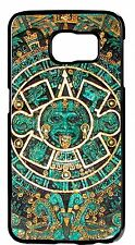 Aztec Calendar Mayan Case For Galaxy S6 EDGE s5 s4 s3 Note3 4 Rubber/Hard Cover