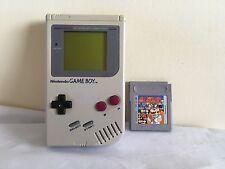ORIGINALE Nintendo Gameboy + DR Mario Games Console Bundle ~ Pls Read