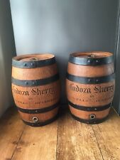 PAIR OF 2 CADOZA SHERRY BY STOWELLS OF CHELSEA BARREL KEG BEDSIDE LAMP UPCYCLE