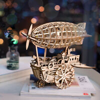 ROKR DIY Wooden Mechanical Model Airship Kits STEM Toy Gift for Adult Boyfriend