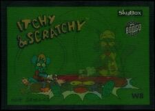1994 Skybox SIMPSONS Wiggle Card #8 Itchy And Scratchy NM