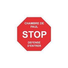 Stop Entrer Sticker Autocollant prénom au choix Prénom Chambre Enfant logo1 12 c
