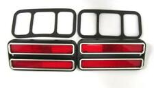 1968 - 1972 Chevy Truck Pickup Rear Side Marker Lamp Lens W/Trim RED PAIR