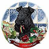 Kerry Blue Terrier Dog Porcelain Ornament Pet Gift 'Santa. I Can Explain!'