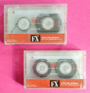 Lotto 2 MC Musicassette SONY FX 60 fx60 Compact Cassette Tape USATA no agfa basf