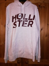 Boys Hollister Hoodie Grey With Front Logo Size Small (38) Excellent Condition