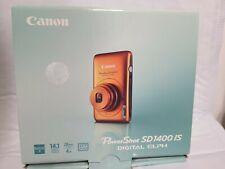 Canon PowerShot SD1400 IS 14.1mp Camera Digital Orange.