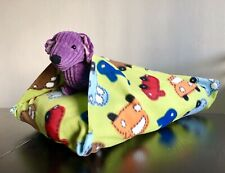 Cozy And Warm Dog Bed With Blanket Attached. Snuggle Pocket Sack.igloo Dog Bed.