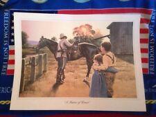 "Richard R. Miller Civil War Art Print ""A Matter Of Honor"" 25 1/2 By 19 Inches"