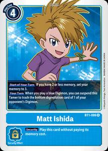 Digimon Matt Ishida - BT1-086- R Near Mint