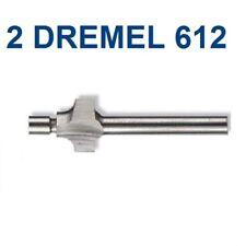 "2 NEW DREMEL AUTHENTIC 3/32"" 612 ROUNDOVER ROUTER BIT 1/8"" SHANK"