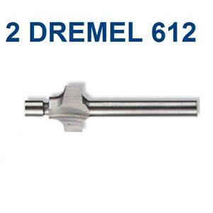 """2 NEW DREMEL AUTHENTIC 3/32"""" 612 ROUTER BIT 1/8"""" SHANK"""