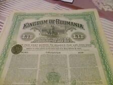 z Rare : Obligation Kingdom of Roumania 1922