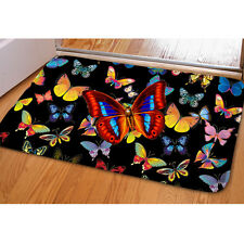 Black Fashion Butterfly Doormat Soft Flannel Mat Carpet Room Door Mats Area Rug