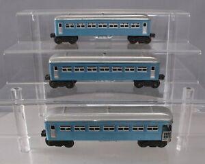 Lionel Vintage O Postwar Repainted Blue/Silver Passenger Cars [3]