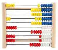 Holz-Zählrahmen ABACUS 100 Holzperlen aus Kiefernholz Rechenrahmen 10x10 Kugeln