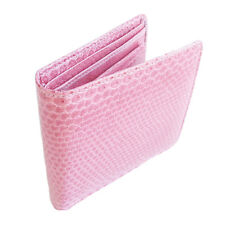 LIGHT PINK !!! SEA SNAKE!!! SKIN LEATHER BIFOLD WALLET,FOR YOU