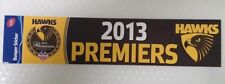 AFL Hawthorn 2013 Bumber Premiers Sticker Hawks Collectable New Car FOLDED