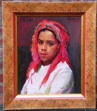jeune fille Schleu - superbe huile sur panneau de Raymond TELLIER