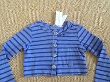 Naartjie Kids cotton cardigan bolero dark lilac blue stripes age 3 - 4 BNWT