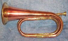 *** BRASS / COPPER BUGLE - REPRODUCTION MILITARY STYLE ***