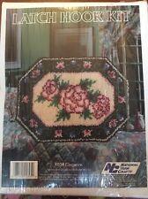 "Rose Design Latch Hook Kit Nip 20x27"" Nyc National Yarn Crafts"