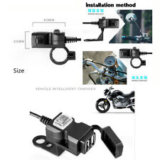 Motorcycle USB Charger with Mounting Accessories 12V-24V Dual  USB