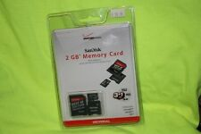 Sandisk 2 GB  Micro SD Memory Card SEALED with 2 Adapters