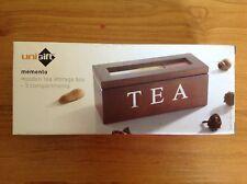 memento Tea Box 3 Compartments wooden storage tea box