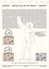 Document Philatélique Timbre 1er Jour  : 20/06/ 1989 - Serment du Jeu de Paume