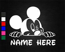 PERSONALISED MICKEY MOUSE NAME BEDROOM WALL/DOOR ART VINYL STICKER 20CM WIDE