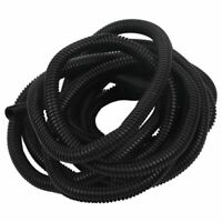 1X(10x13mm Black Polyethylene Split Corrugated Tubing Wire Cable Conduit 4 M5H9)