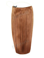 """Halo 16"""" Straight One Piece 100% Remy Human Hair Extensions Light Chestnut"""