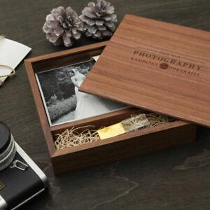 4x6 photo album box glass personalised wedding USB Flash pen Drive custom logo