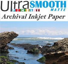 Ultrafine Smooth Matte FineArt Cotton 2-Sided 320g 17m Inkjet Paper 11 x 17 / 50