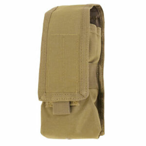 CONDOR MOLLE Tactical Antenna Radio Walkie Talkie Pouch Coyote Brown
