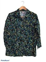 J. Jill Women's Blue Button Up Long Sleeve 100% Cotton Blouse Size Large Petite