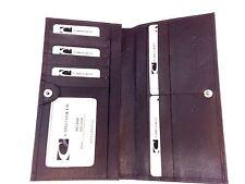 Men Italian Leather Long Breast Wallet Bifold  Cabrelli & Co NWT Dark Brown